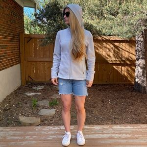 Prana Fleece Hoodie Grey Size M